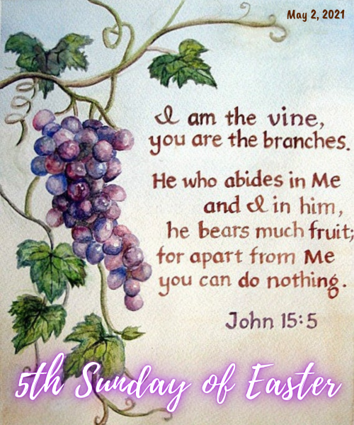 5th Sunday of Easter Bulletin Cover 3