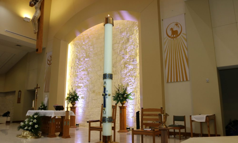 Easter Vigil Candle St. Dominic 2020